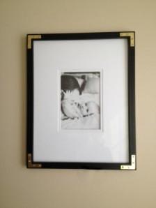 black L frame