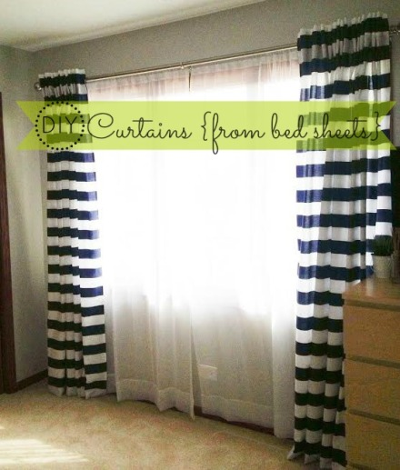 How To Make Back Tab Curtains Diy From Bed Sheets This Is Our Bliss