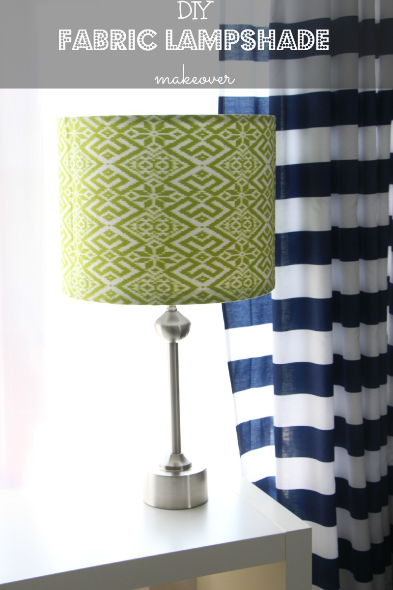 How To Decorate A Long Living Room With Windows: How To: DIY Fabric Lampshade