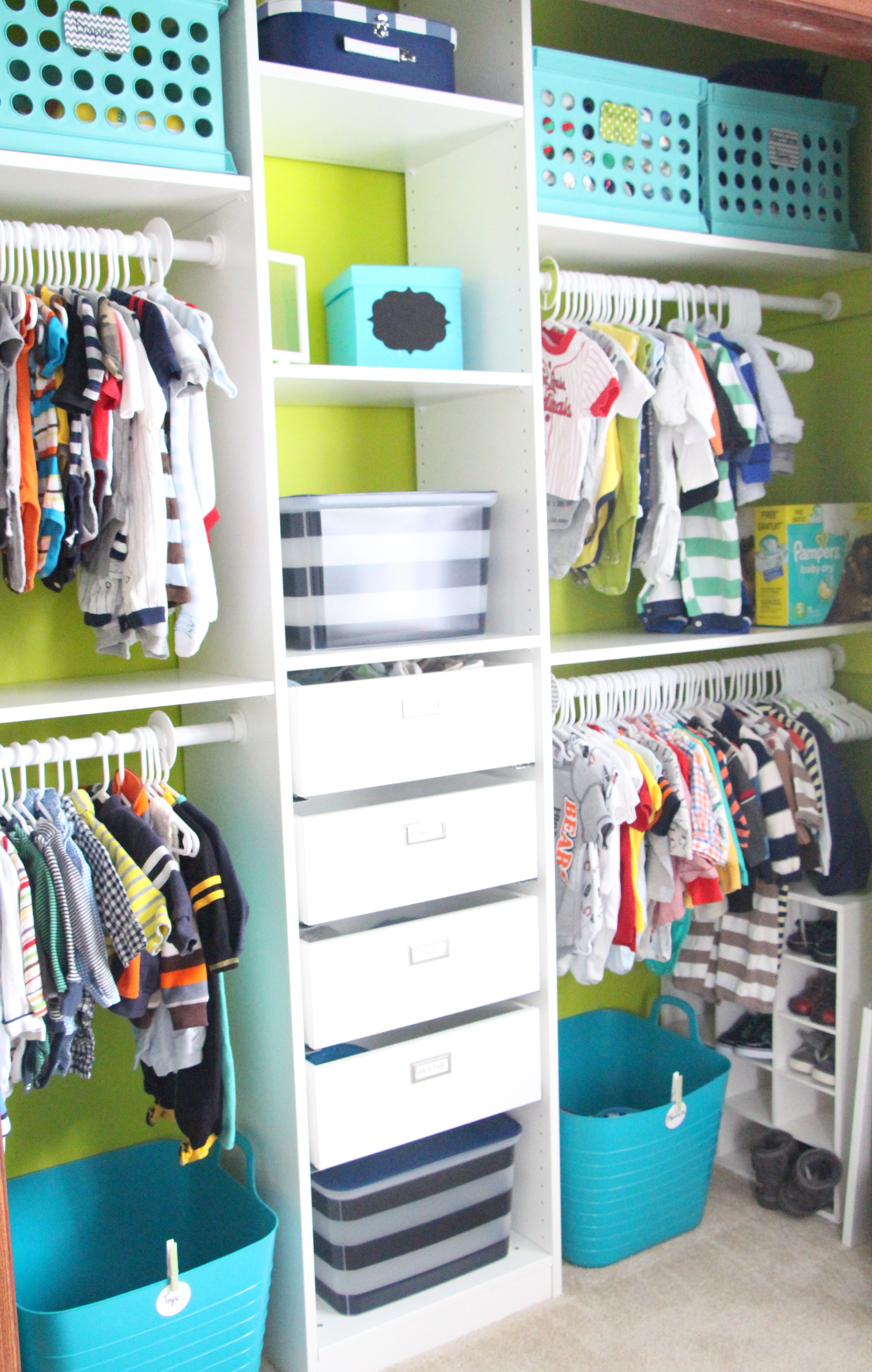 Nursery closet makeover and the paint winner is for Ikea diy closet