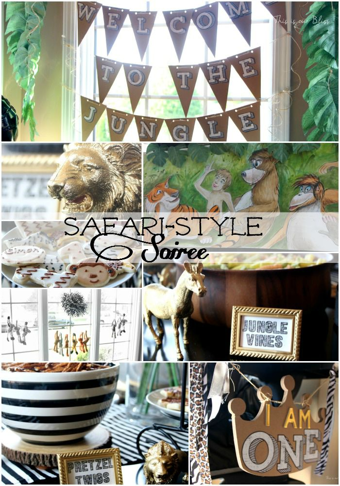 Welcome to the Jungle - Safari style soiree - 1st birthday party - safari style party - This is our bliss