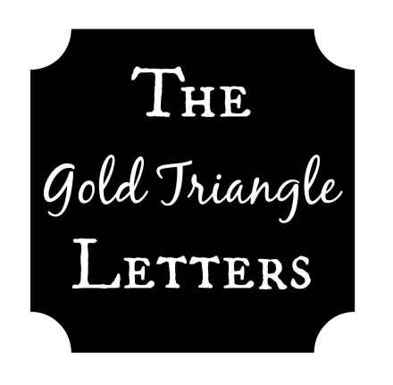 Gold Triangle Letters
