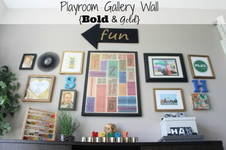 Playroom Gallery wall