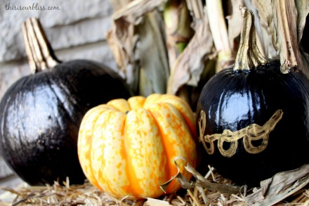 DIY painted pumpkins for the porch craft paint & spray paint