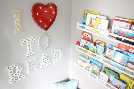 DIY Reading Nook w/ bookshelves
