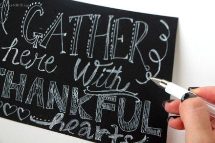 DIY fake chalkboard art -Thanksgiving art - this is our bliss