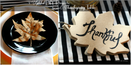 DIY gilded place cards and thankful book for thanksgiving table 2