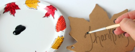 DIY gold chipboard thanksful book for thanksgiving table 3
