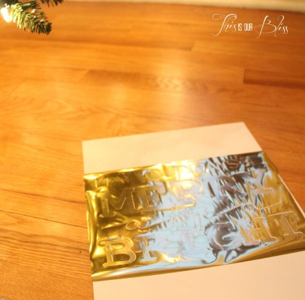 DIY gold foil art - holiday display - holiday decor - bling bling - merry and bright 2