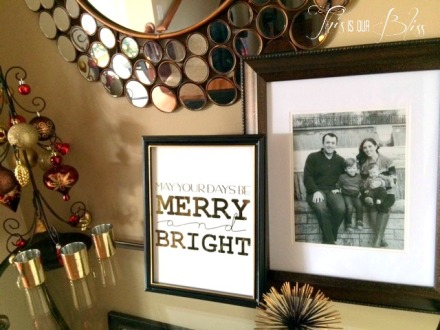 DIY gold foil art - holiday display - holiday decor - bling bling - merry and bright 5