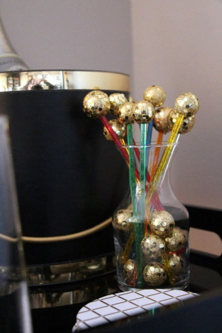 DIY New Year's Eve Party Drink Sticks - bar - cocktail table