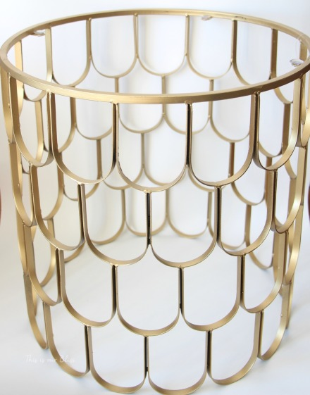 Gold metal frame for DIY laundry hamper - This is our Bliss