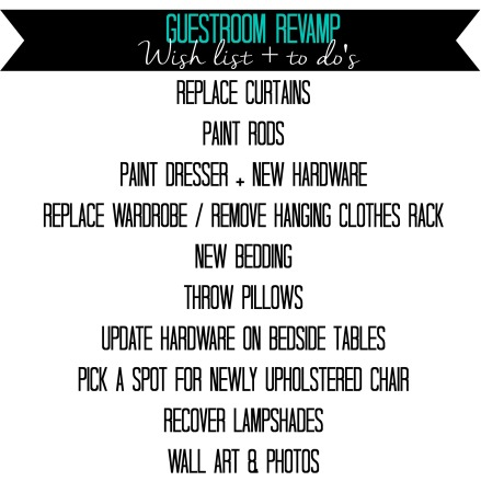 Guestroom Revamp checklist - This is our Bliss