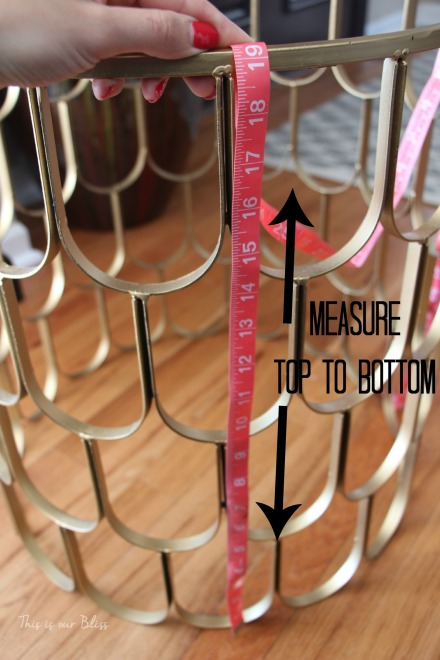 taking measurements - how to make a cloth insert for DIY hamper - This is our Bliss 1