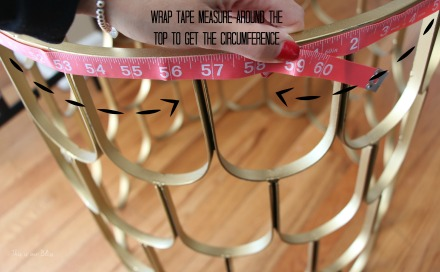 taking measurements - how to make a cloth insert for DIY hamper - This is our Bliss