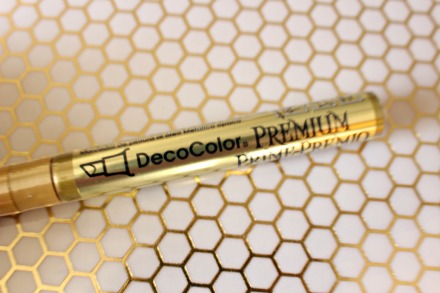 Gold leaf paint pen - DIY gold detail acrylic tray - This is our Bliss
