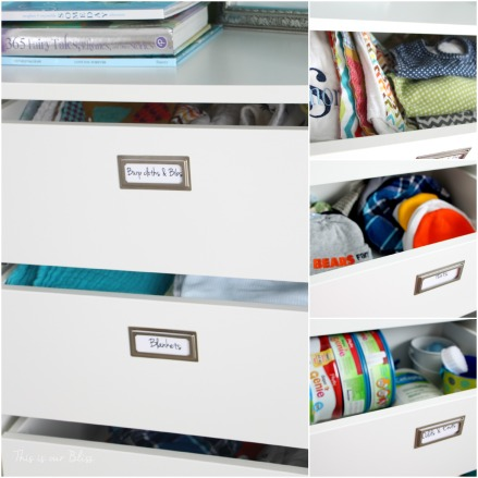 Little boy's closet drawer labels + details - This is our Bliss