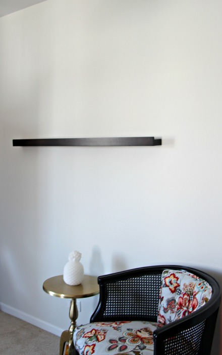 floating wall ledge - guestroom revamp - This is our Bliss