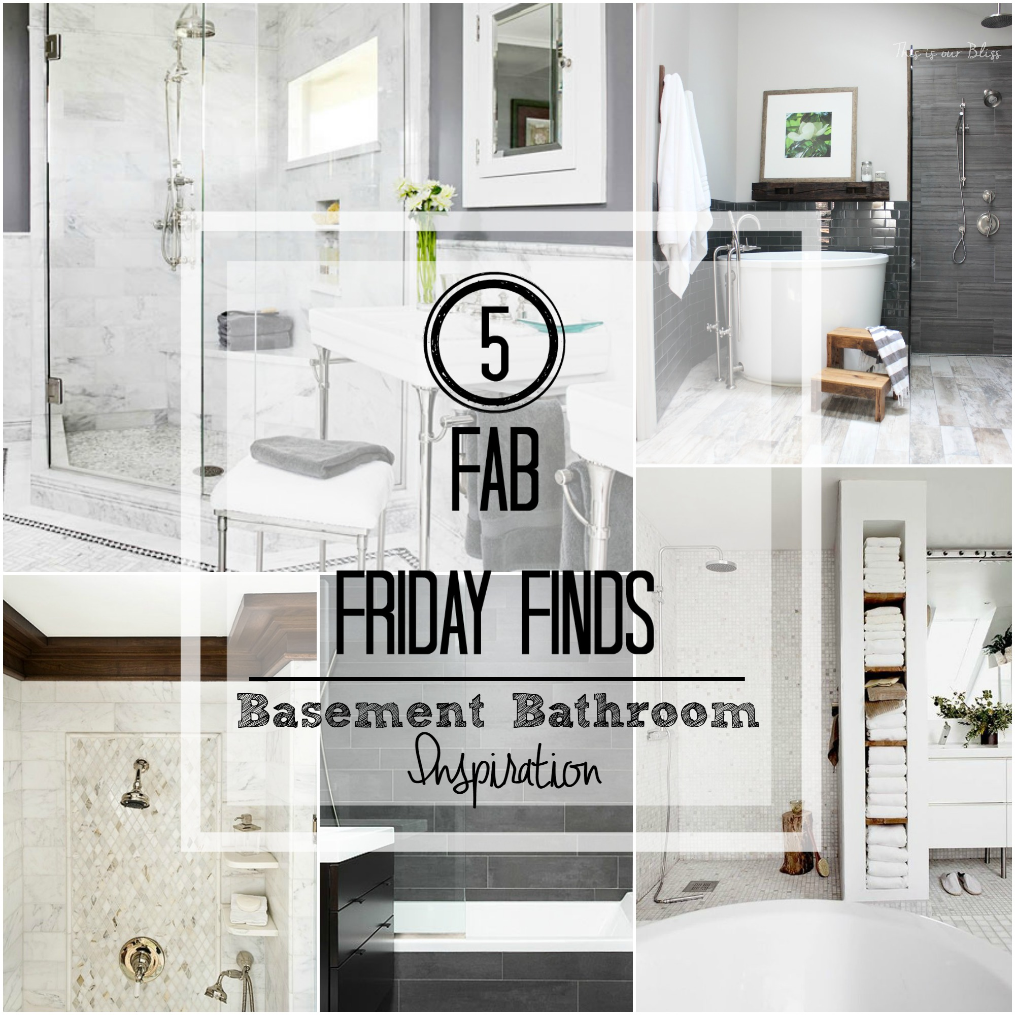 Bathroom Fixtures List 5 fab friday finds [basement bath inspiration] - this is our bliss