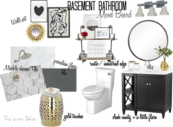 Basement Bathroom Design Board