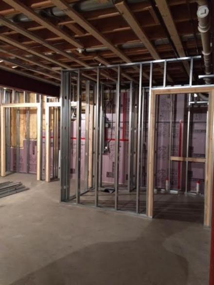 basement bathroom studs