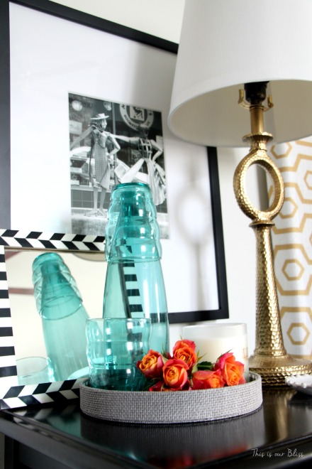 guestroom revamp - bedside table - gold - This is our Bliss
