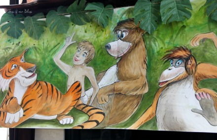 hand-painted Jungle book themed canvas banner - This is our Bliss