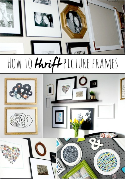 How to thrift picture frames & use them in a gallery wall - thrifted finds - tips & tricks - This is our bliss