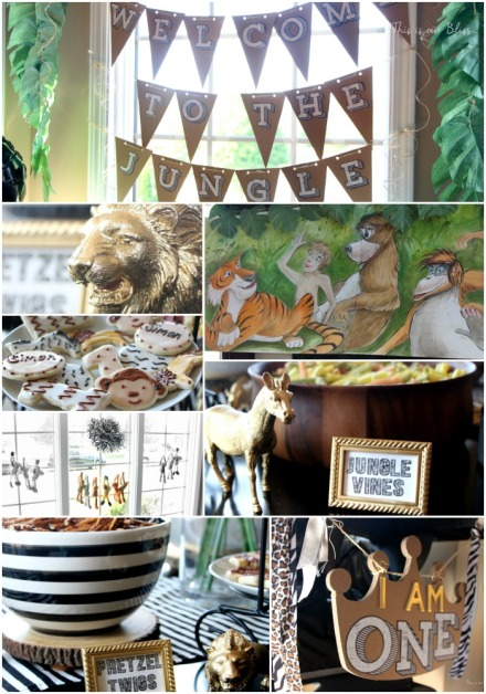Welcome to the Jungle 1st birthday party - safari style party - This is our bliss