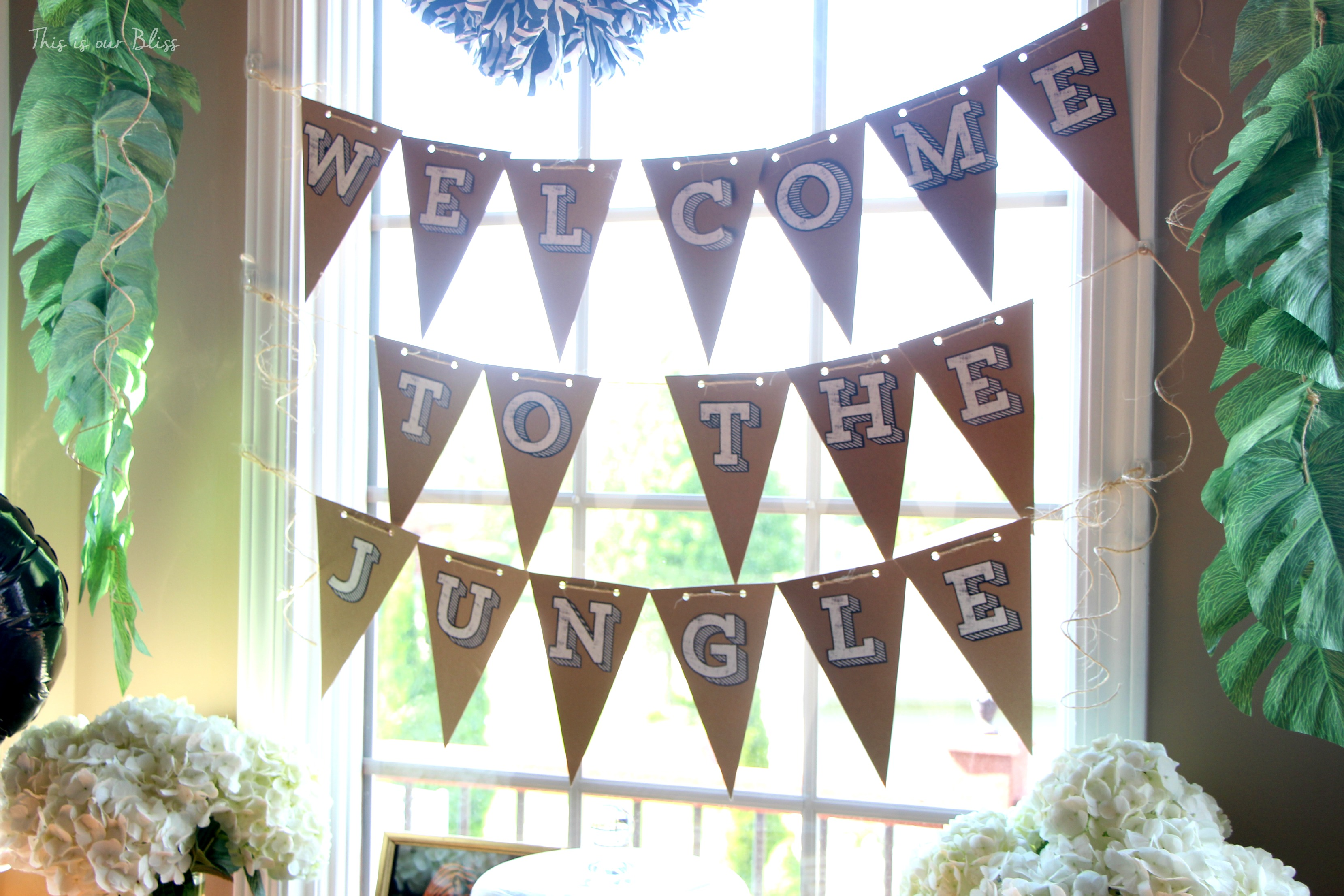 Welcome To The Jungle Bunting   Safari Jungle Birthday Party   First Birthday  Party   Party ...