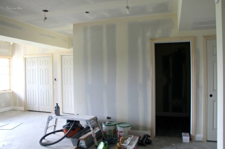 basement progress - drywall and taping - This is our Bliss