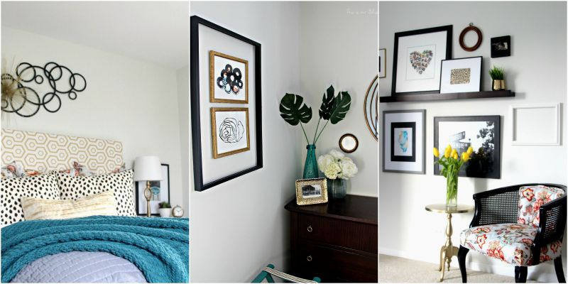 Guestroom revamp - framing frames gallery wall - this is our bliss