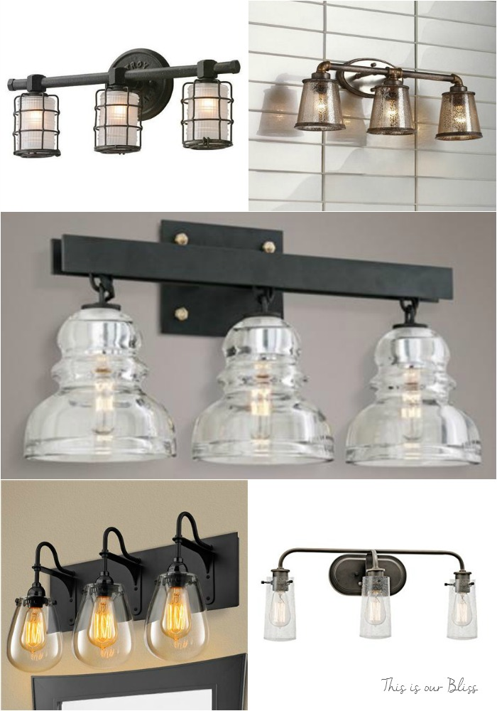 here are the top 5 vanity light options i sourced over the last couple of months u2013 do you remember which one we went with