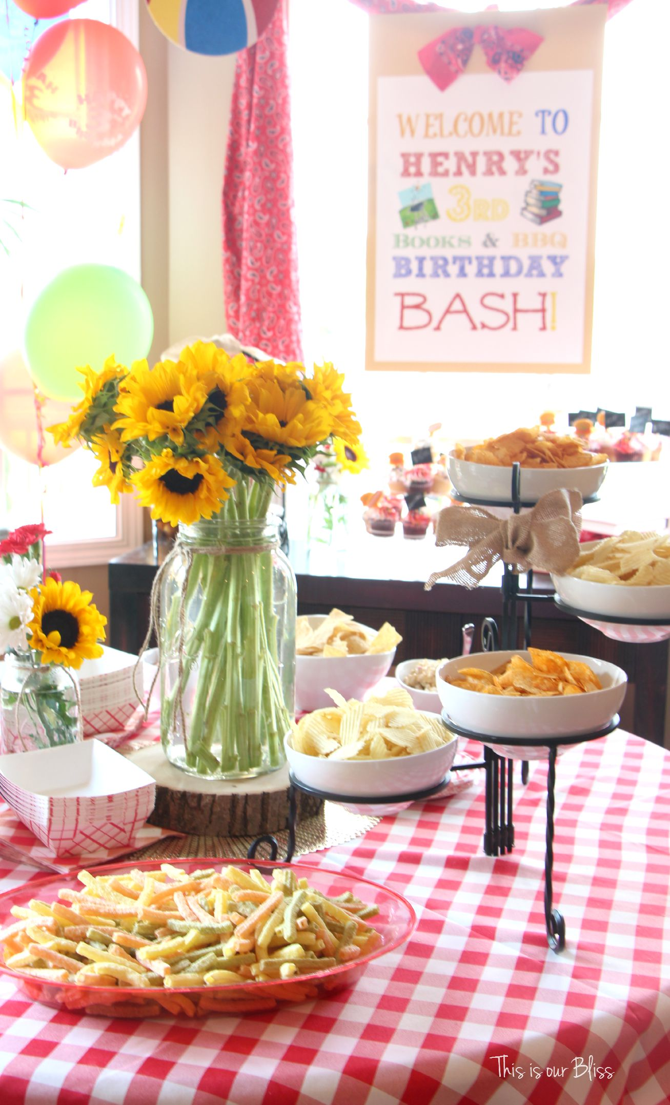 Books & BBQ | Henry\'s 3rd Birthday Bash - This is our Bliss
