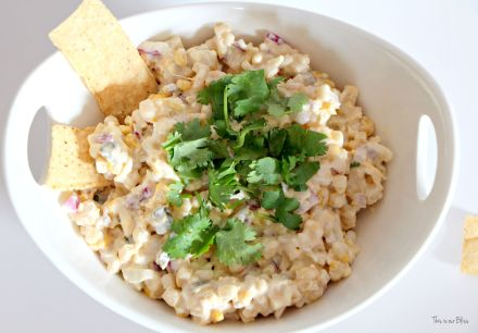 Cold corn fiesta dip - summer dip - corn dip recipe - This is our Bliss