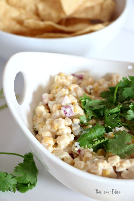 Cold Corn & Jalapeno dip - easy summer recipe - This is our Bliss