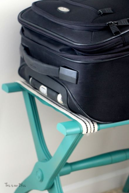 luggage rack makeover - great find + quick fix - guestroom luggage rack - This is our bliss