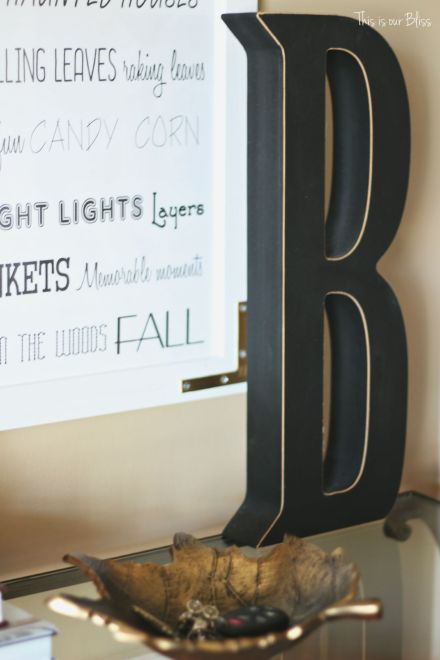 fall entry way table - fall entryway - fall vignette - table styling - this is our bliss
