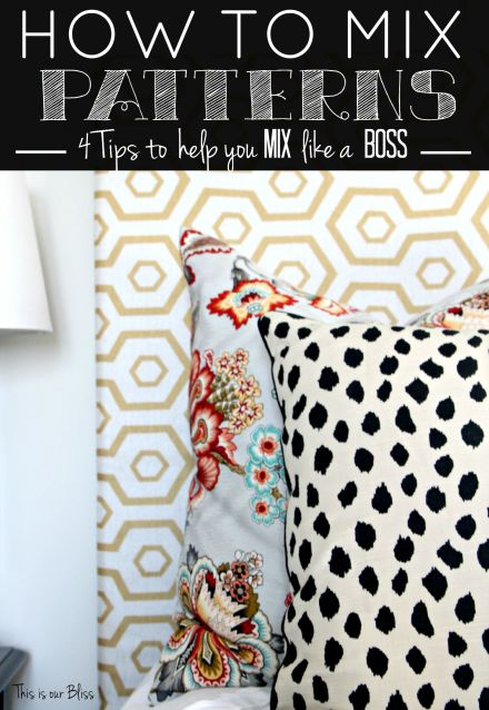 How to mix patterns - mixing patterns - mix like a boss - back to basics - pattern play - This is our Bliss