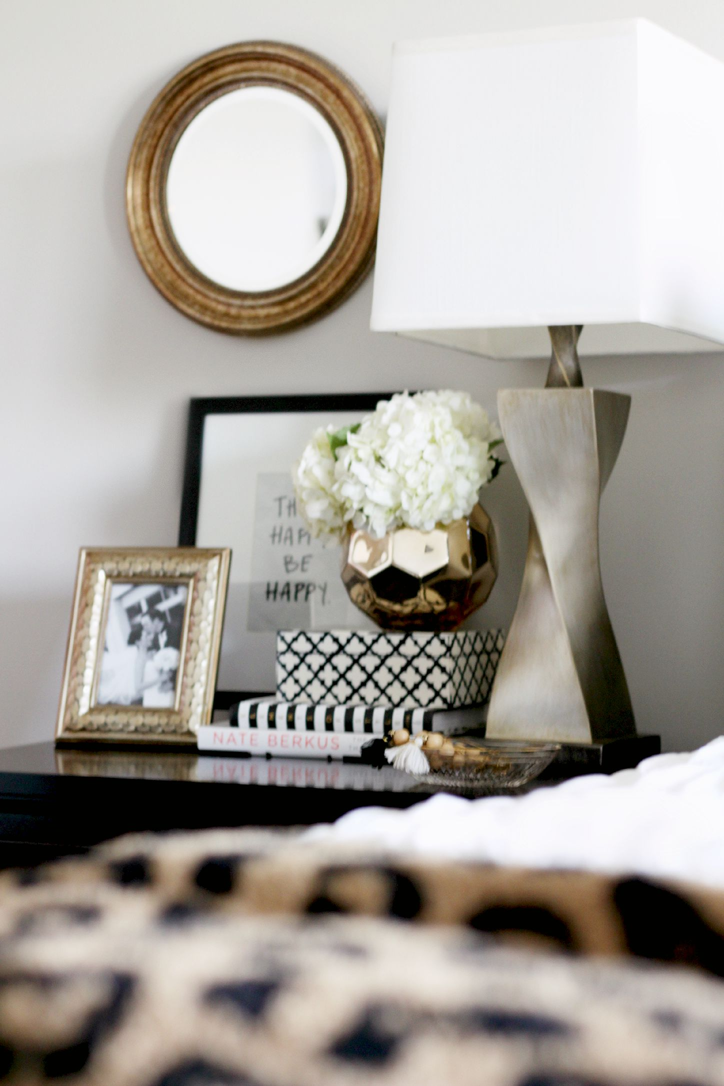 How To Style A Nightstand Back To Basics Week 1 This Is Our Bliss