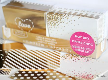 Michaels gold foil greeting card pack - turn into wall art - this is our bliss